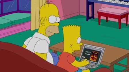 Even The Simpsons refuse to pay to watch their show now!